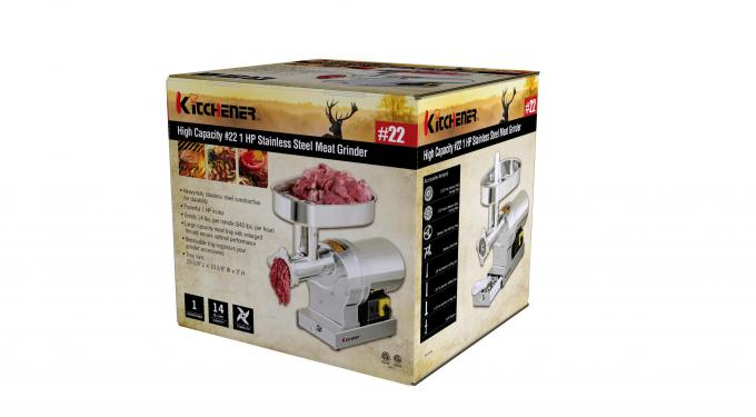 Durable Stainless Steel Electric Meat Grinder Air Cooled Motor w / 3 Sausage Stuffer