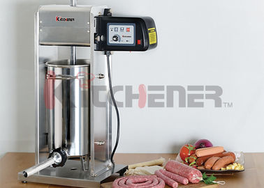 20 LB Motorized / Manual Sausage Stuffer Commercial Vertical Stainless Steel