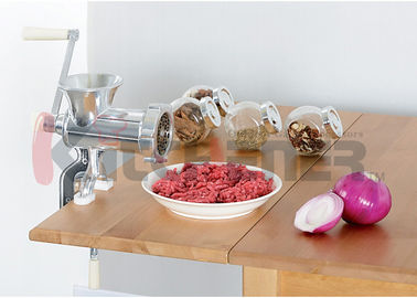 99 Lbs Per Hour Manual Meat Grinder Cast Aluminum With #10 Tabletop Clamp