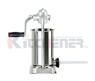 Stainless Steel Manual Sausage Stuffer Commercial Filler Meat Maker Machine 15 Lb