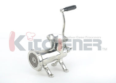 """Stainless Steel Manual Meat Grinder With Countertop Bolt Down And Fine 3 / 16"""" Plates"""